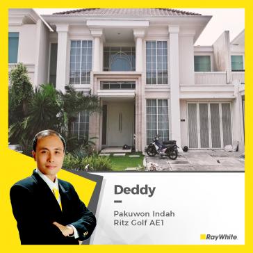 Rumah Mewah di Pakuwon Indah, Jl. Ritz Golf Blok AE1, Lontar